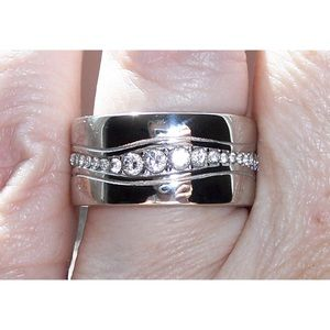 Other - STAINLESS STEEL Men's Heavy AAA Grade CZ Band Ring